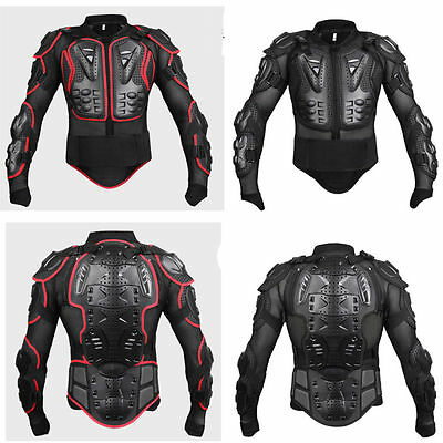 Motorcycle Protection Guard Jacket Motocross Motorbike Body Armour Red / Black