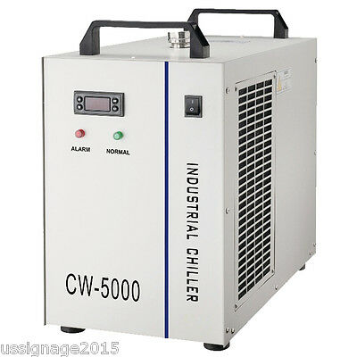 CW-5000AG Industrial Water Chiller Single 120W CO2 Laser Tube Cooling AC 1P