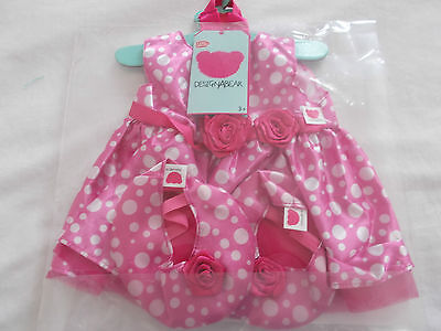New Design A Bear Pink Dress For Chad Valley Designabear also fits Builda bear