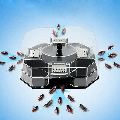 New Cockroach House Roacher Insects Bugs Capture Bait Trap Killer Catcher Box E6