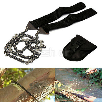 Survival Chain Saw Hand ChainSaw Emergency Camping Kit Garden Gears Pocket Tool