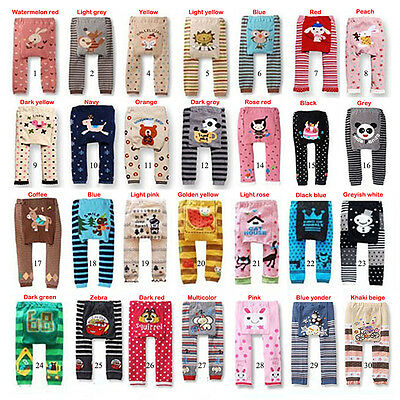 Baby Boys Girls Infant Toddler Warm Animal Cartoon Leggings PP Pants 0-36 Months