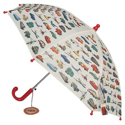 dotcomgiftshop CHILDRENS UMBRELLA VINTAGE TRANSPORT. KIDS GIRLS BOYS BROLLY
