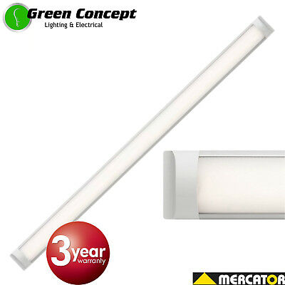 Mercator Neo 45W LED Light Batten Slimline Ceiling 1200mm Cool White Daylight