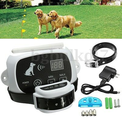 Wireless No-Wire Pet Dog Fence Waterproof Transmitter Containment System Collar