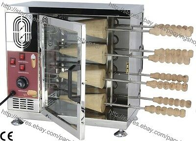 Heavy Duty Electric Ice Cream Cone Kurtos Kalacs Chimney Cake Roll Oven Maker