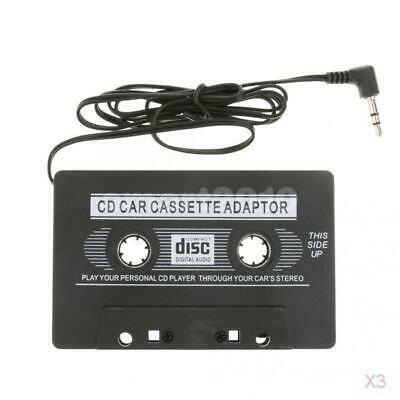 3x 3.5mm AUX Car Audio Cassette Tape Black Adapter Transmitters for IPhone 6 5