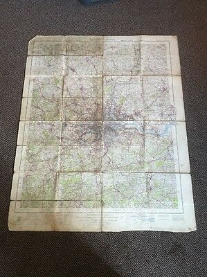 Ordnance Survey Map Military Edition Of Greater London