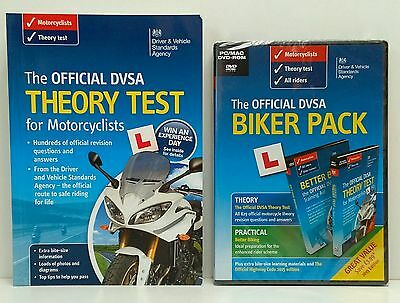 The Official DVSA DVA Motorcycle Theory Test + Biker Pack 2 Disc PC MAC DVD
