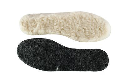Wool Sheepskin Felt Thick Fluffy Shoes Insoles Boots Inner Soles Size 3-13