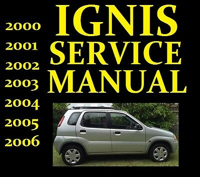 Suzuki IGNIS Service Workshop Repair Manual Wiring Part RG413 RG415 USED 2000-06