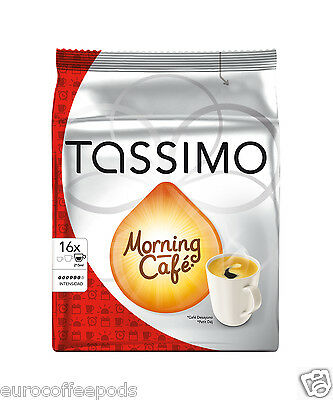 Tassimo Morning Cafe Coffee 2 Pack, 32 T-Discs / Servings