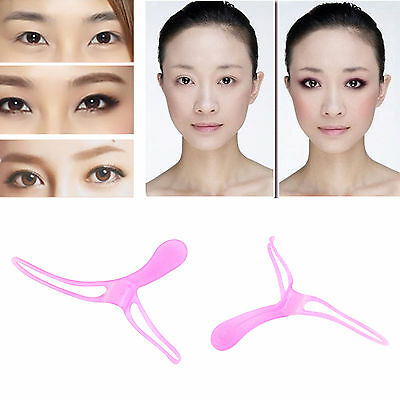 DIY Eyebrow Shaper Shaping Makeup Grooming Tool Template Stereo Stencil Brow New