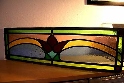 Very Old Stained Glass Window Panel