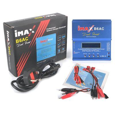 New iMAX B6 AC Lipo NiMH Polymer RC Battery Balance Charger Discharger UK Plug