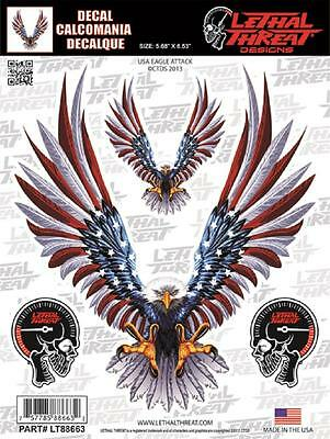 Lethal Threat Sticker Decal Anywhere Motorbike Helmet Boards Tablet IPad LT88663