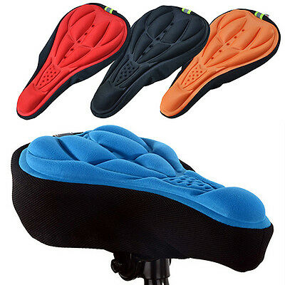 Silicone Cycling Bike Saddle Breathable Gel Cushion Soft Pad Seat Cover Beamy