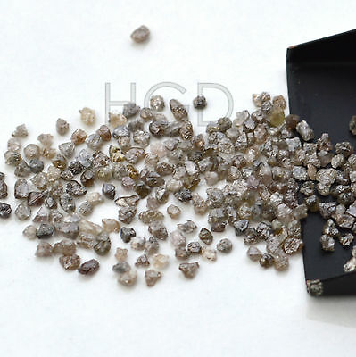 100% NATURAL Loose Rough Uncut Diamonds Real Earth Mine Dark Brown 2.00mm 5 crts