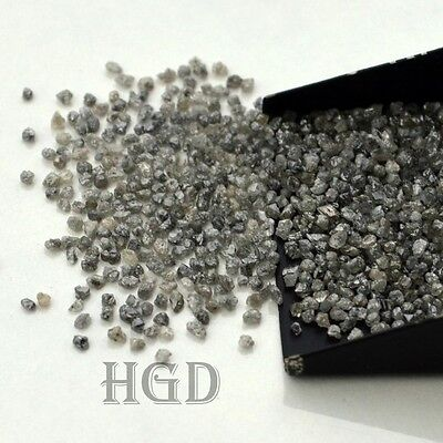 100% NATURAL Loose Rough Uncut Diamonds Real Earth Mine Black 1.60mm 5 crts+