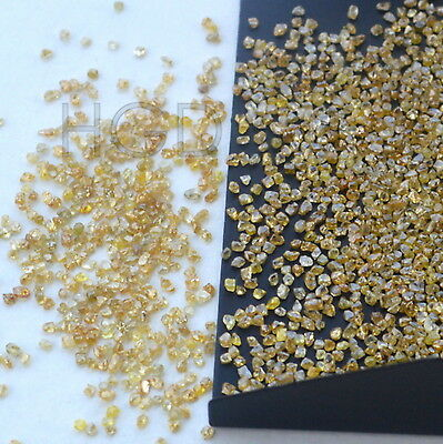 100% NATURAL Loose Rough Uncut Roundish Rare Diamonds Fancy Yellow 1.00mm 5 crts