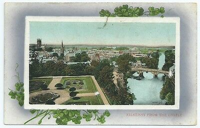 Vintage Postcard.  Kilkenny From The Castle. Used 1911 from Kilkenny.  Ref:6932