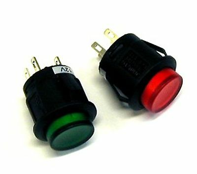Switch:push-button  OFF-ON fixed, 2pins  3A/125VAC DPST, illuminated LED red