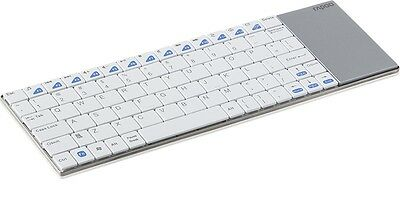 RAPOO E2700 Wireless Keyboard, E2700, 2.4GHz RF, USB, White (DEU Layout - QWERTZ