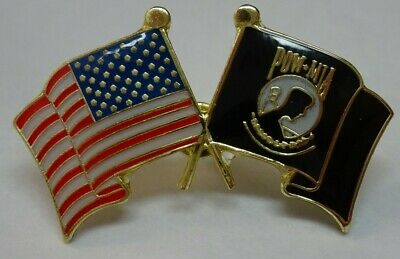 POW/ with a American flag on the side lapel pin.  very nice   New