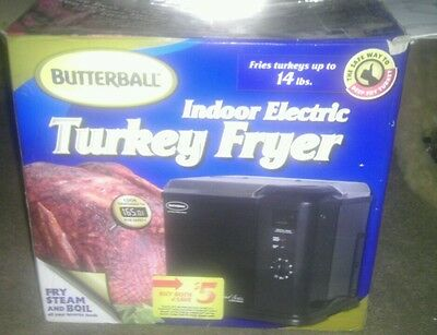 NEW BUTTERBALL By MASTERBUILT INDOOR ELECTRIC TURKEY FRYER, STEAM, & BOIL