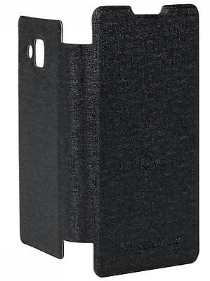 Cover with a lid - black flip cover to Kruger & Matz MOVE