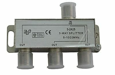 Three-way splitter 5-1000MHz Without DC pass-throw