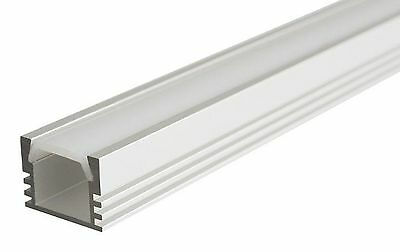 Anodized aluminum profile for LED strips, tall, length 1m