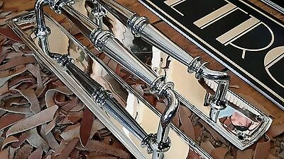 Salvaged Vintage art deco style chrome Door Handles Pulls Cinema Shop pub