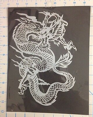 Chinese Dragon mylar reusable stencil 10 mils for Airbrush design art & craft