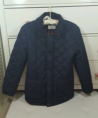 Girls Navy M&S Quilted Coat Age 11-12 years blue indigo collection marks spencer