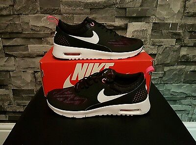 Nike Air Max Thea Trainers Black White and pink trim UK Size 4.5 BNWB 820244 610