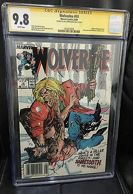 Wolverine #10 Cgc Ss 9.8 Signed By Bill Sienkiewicz ~ Sabretooth~ Classic Cover