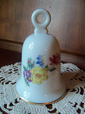 COLLECTIBLE House Of Goebel Bavaria West Germany Floral Bell ~ ECU