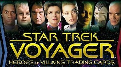 Star Trek Voyager Heroes & Villains Master Set II + Binder
