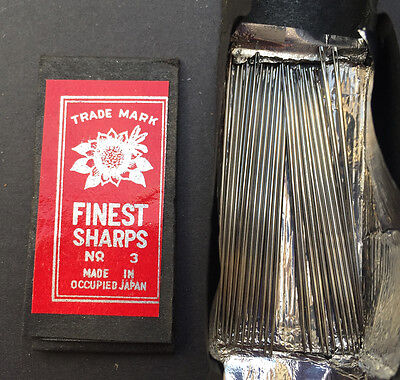 1940s MADE IN OCCUPIED JAPAN FINEST SHARPS NO 3 4cm Needles