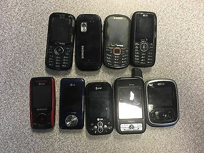 Cell Phone Lot of 9 Untested Cell Phones for Parts Or Repair