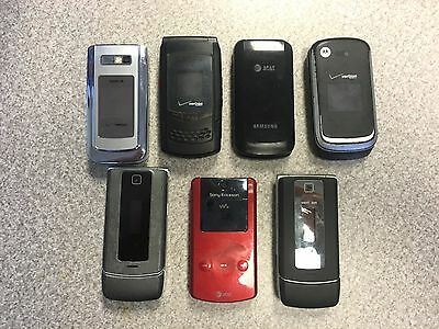 Cell Phone Lot of 7 Untested Cell Phones for Parts Or Repair