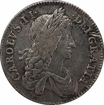 1663 Charles II silver shilling first bust die axis usual  S 3371
