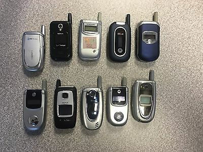 Cell Phone Lot of 10 Untested Cell Phones for Parts Or Repair