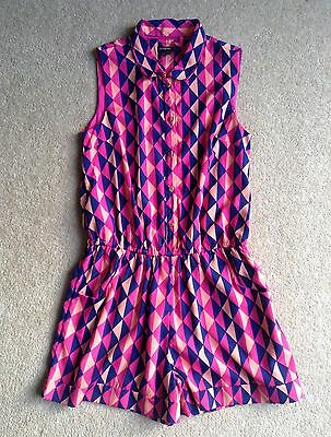 M&S AUTOGRAPH LINED GIRLS SHORTS ONE PIECE JUMPSUIT OUTFIT AGE 12-13 years