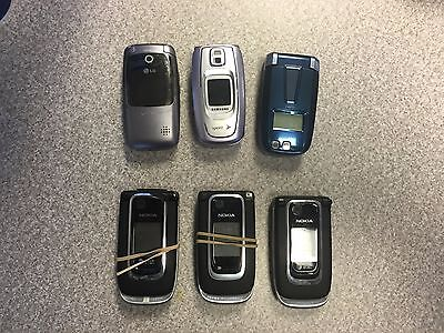 Cell Phone Lot of 6 Untested Cell Phones for Parts Or Repair