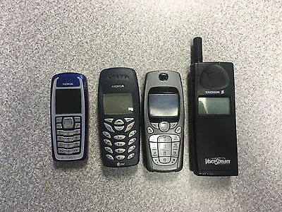 Cell Phone Lot of 4 Untested Cell Phones for Parts Or Repair