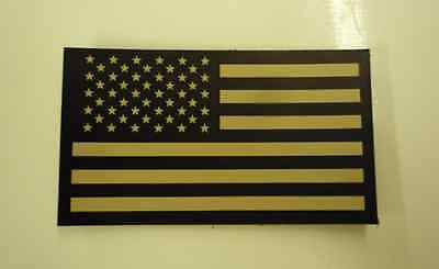 """FWD USA FLAG NO LOGO TAN ON IR MB solasX 2nd 3.5""""X2"""" WITH VELCRO® BRAND FASTENER"""