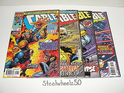 Cable 4 Comic Lot Marvel 1997 #48 49 50 52 Joe Casey Jose Ladronn James Robinson
