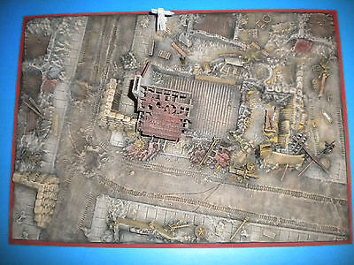 """Airfix 1/72 1/76 WWII Battle of Normandy """"Ruined Village"""" Diorama Accessory"""